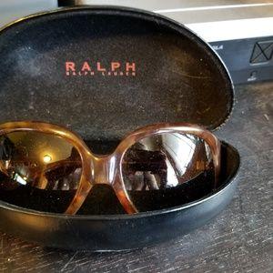 Ralph Lauren Oversized Round Sunglasses Tortoise
